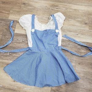 Leg Avenue blue white plaid costume dress